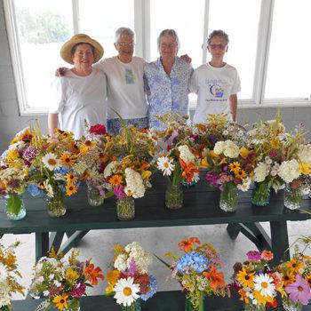 Lobster Dinner flower volunteers. Photo credit Lisa Heyward.