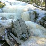 Frozen waterfall on Tucker Mountain, January 2014. Photo credit Paul Breeden.