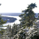 View from Tucker Mountain trail in winter. Photo credit Paul Breeden.