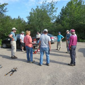 Corea Heath clean up. Photo credit Rosemary Levin.