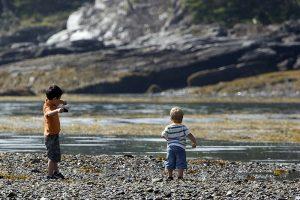 Children playing at Salt Pond. Photo credit Kelly Bellis.